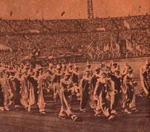 Парад на стадионе Динамо 1959 год