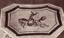 Рисунок на фарфоровой подставке периода династии Сун