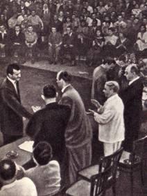 Вручение диплома выпускникам 1958 года