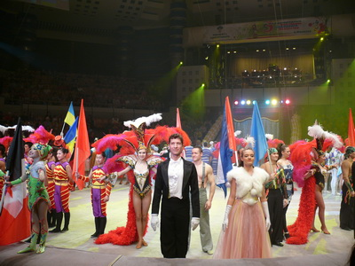 The jury members of the circus festival in Izhevsk awarded members of the festival