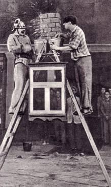 Г. Афанасьев и А. Николаев в антре «Пожарник»