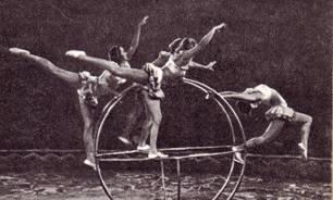 Акробатки с ренским колесом Балакины (ГУЦИ, выпуск 1950)