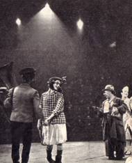 Барио и его семья. Слева направо: Нелло, Энни, Барио (отец) и Фредди (белый клоун)