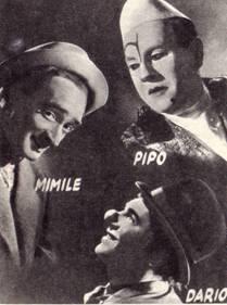 Пипо Сосман, Мимиль (Эмиль Корин) и Вили Дарио