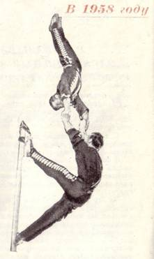 Акробаты на мачте под руководством Федина