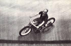 Г. Левитин на мотоцикле