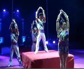 Акробаты на качелях и турниках - Национальный цирк Пхеньяна. National Circus of Pyongyang (КНДР)